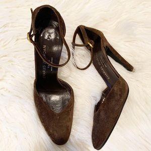 Rare Vintage Charles Jourdan Suede Stilettos